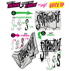 How to THINK when you draw IN-WORLD LETTERING TIP!
