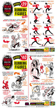 How to THINK when you draw RUNNING FIGURES!