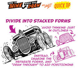 How to THINK when you draw STACKED FORMS QUICK TIP