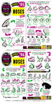 How to THINK when you draw NOSES tutorial!
