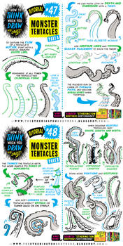 How to THINK when you draw TENTACLES tutorial!