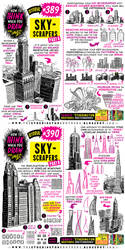 How to THINK when you draw SKYSCRAPERS tutorial!