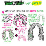 How to THINK when you draw WAVY HAIR QUICK TIP!