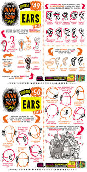 How to THINK when you draw EARS tutorial!