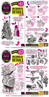 How to THINK when you draw MECHANICAL DETAILS!