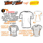 How to THINK when you draw T-SHIRTS QUICK TIP!