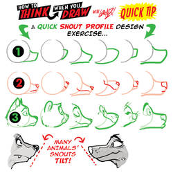 How to THINK when you draw SNOUTS QUICK TIP!
