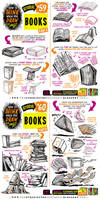 How to THINK when you draw BOOKS tutorial!