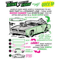 How to THINK when you draw MUSCLES CARS QUICK TIP!