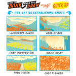 How to THINK when you draw BATTLE SCENES QUICK TIP