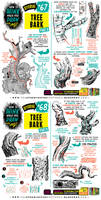 How to THINK when you draw TREE BARK tutorial!