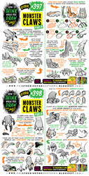 How to THINK when you draw MONSTER CLAWS tutorial!