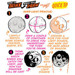 How to THINK when you draw ASTEROIDS QUICK TIP!
