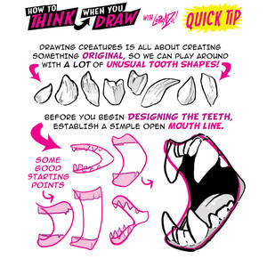 How to THINK when you draw MONSTER TEETH QUICK TIP