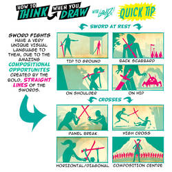 How to THINK when you draw SWORD FIGHTS QUICK TIP!