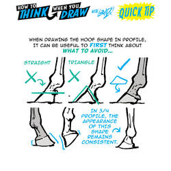 How to THINK when you draw HOOVES QUICK TIP!