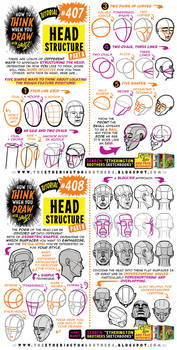 How to THINK when you draw HEAD STRUCTURE tutorial