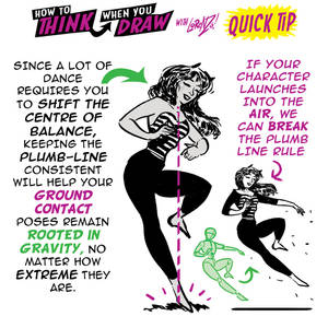 How to draw POSES which BREAK the PLUMB LINE tip!
