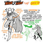 How to draw CHARACTERS HOVERING IN FLIGHT TIP!