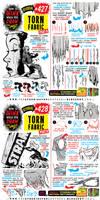 TORN FABRIC tutorial! Kickstarter MAILING LIST!!!!