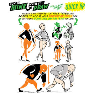 How to THINK when you draw WALKS QUICK TIP!
