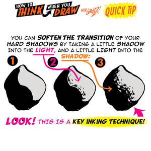 How to THINK when you draw INKING QUICK TIP!