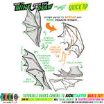 How to draw DRAGON WINGS for #LEARNUARY day NINE!!