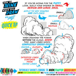 How to draw CLOUDS for #LEARNUARY day SEVENTEEN!