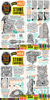 How to draw STONE CARVINGS for #LEARNUARY day 23!