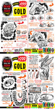 How to draw GOLD tutorial for #LEARNUARY day 24!!!