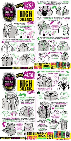 How to THINK when you draw HIGH COLLARS tutorial!