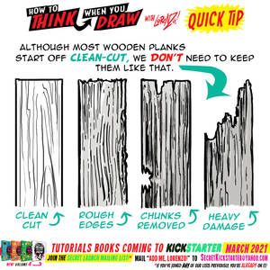 How to THINK when you draw WOODEN PLANKS TIP!