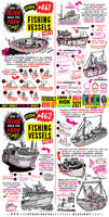 How to THINK when you draw FISHING VESSELS!!