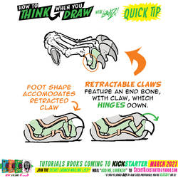 How to THINK when you draw CLAWS QUICK TIP!