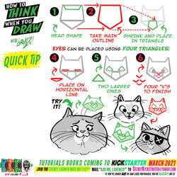 How to THINK when you draw CAT HEADS quick tip!