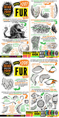 How to THINK when you draw FUR tutorial!