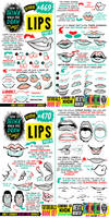 How to THINK when you draw LIPS tutorial!