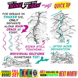 How to THINK when you draw CRACKING ICE QUICK TIP!