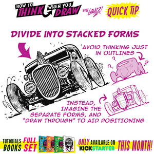 How to draw FORESHORTENING using STACKING TIP!