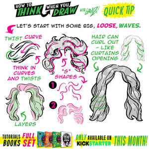 How to THINK when you draw WAVY HAIR tutorial!
