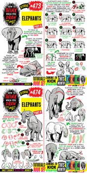 How to THINK when you draw ELEPHANTS tutorial!