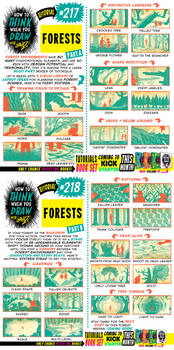 How to THINK when you draw FORESTS tutorial!