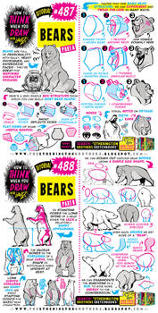 How to THINK when you draw BEARS! NEW tutorial!