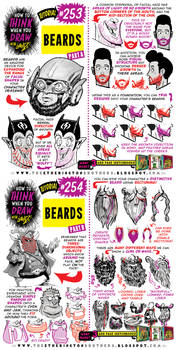 How to THINK when you draw BEARDS tutorial!