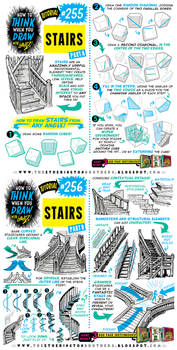 How to THINK when you draw STAIRS tutorial!