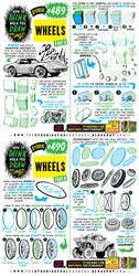 How to THINK when you draw WHEELS tutorial!