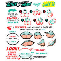 How to THINK when you draw LIPS QUICK TIP!