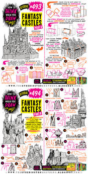How to THINK when you draw FANTASY CASTLES!