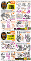 How to THINK when you draw ROBOT HANDS tutorial!