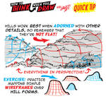 How to THINK when you draw HILLS QUICK TIP!